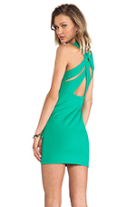 Olivia Weave Cross Back Dress in Nettle