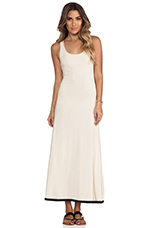 Necklace Tiered Maxi Dress in Cream