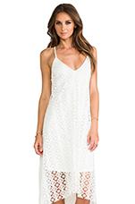 Crochet Asymmetrical Dress in White