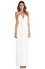 Halter Maxi Dress in White