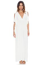 Open Shoulder Maxi Dress in White