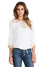 Crochet Long Sleeve Top in White