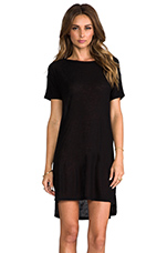 Classic Pilly Boatneck Dress in Black