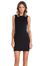 Mohair Twist Dress in Black