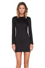 Denim Long Sleeve Dress in Black