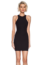 Stretch Tech Suiting Sleeveless Dress in Black