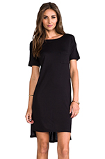 Boatneck Dress Mini Pocket Black