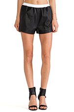 Lamb Leather Shorts in Black