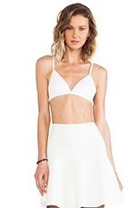 Lux Ponte Triangle Bra in White