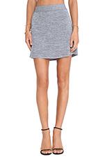 A-Line Mini Skirt in Black/White
