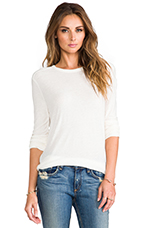 Slub Classic Long Sleeve Tee in Ivory