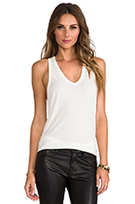 Slub Classic Tank With Pocket in Ivory