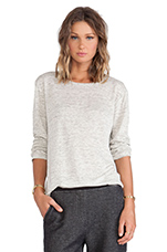 Heather Long Sleeve Tee in Light Heather Grey