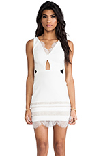 White Isle Dress in White & Black