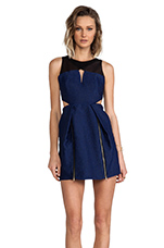Coveted Dress in Navy Blue/Black