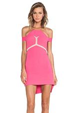 Kix Mini Dress on Hot Pink & Nude