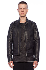 Rikki Leather Jacket in Black