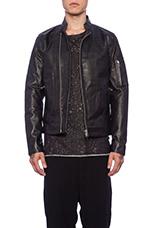 Rikki Leather Jacket in Black