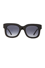 Dominaty Sunglasses in Solid Black