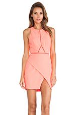 Optics Dress in Pink Flamingo