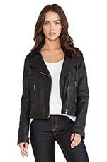 Behati Leather Jacket in Black