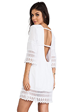 Flores Mini Dress in White