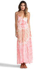 Gracie Maxi Dress in Peach Abstract