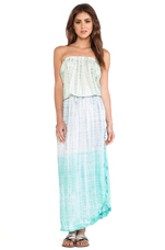Toby Frill Maxi in Rainbow Abstract Green Grey Teal