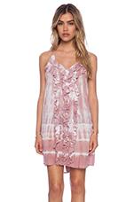 Laguna Frill Dress Tie Dye in Mauve White