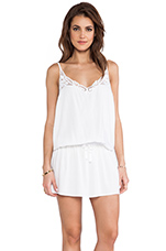 Lydia Mini Tank Dress in White