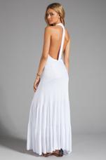 White Flare Dress in White