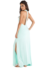 Cowrie Open Back Maxi Dress in Glass