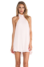 Envy Halter Dress in Baby Pink