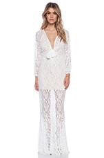 x Love Indie Mermaid Lace Dress in White