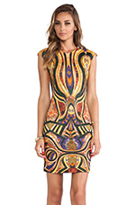 Morgan Dress in Gold Multi