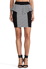 Lisa Skirt in Black/White Stripe