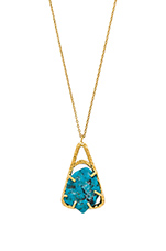 Mayla Necklace in Turquoise & Gold