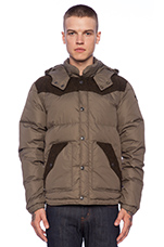 Puffer Jacket with Contrast in Olive