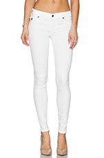 Casey Skinny with Flaps in Optic White