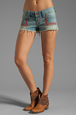 Faye Embroidered Short in Traveler
