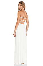 Demi Strapless Maxi Dress in Ivory