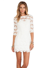 Mindy Dress in Ivory Lace