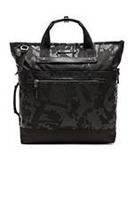 Dalston Perch Backpack Tote in Black Camo