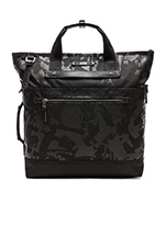 Dalston Perch Backpack Tote in Black Camo