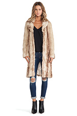 My Fur Lady Coat in Natural Beige
