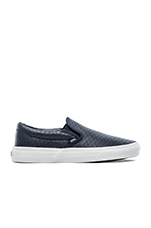 Classic Slip On Leather in Dress Blues