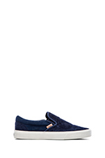 California Classic Slip On in Knit Suede Dress Blues