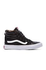 SK8-Hi Slim Zip Sneaker in Black & Leopard