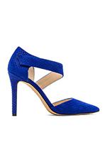 Carlotte Fishskin Heel in Royal Blue