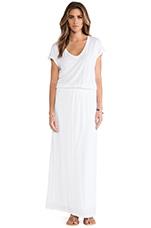 Lizia Luxe Slub Maxi Dress in White